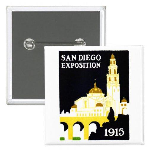 Exposición 1915 de San Diego Pins