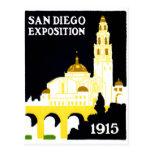 Exposición 1915 de San Diego Tarjeta Postal