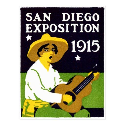 Exposición 1915 de San Diego Tarjetas Postales