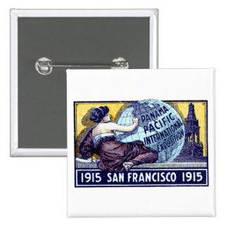 Exposición 1915 de San Francisco Pin Cuadrada 5 Cm