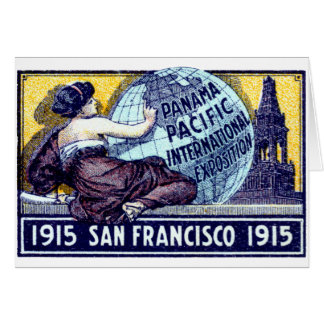 Exposición 1915 de San Francisco Tarjeta De Felicitación
