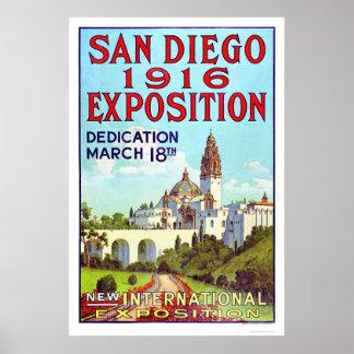 Exposición 1916 de San Diego Póster
