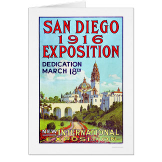 Exposición 1916 de San Diego Tarjeta De Felicitación