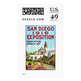 Exposición 1916 de San Diego Timbre Postal