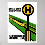 Exposición 1928 del coche de la calle poster