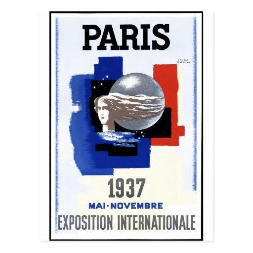 Exposición 1937 de París Postal