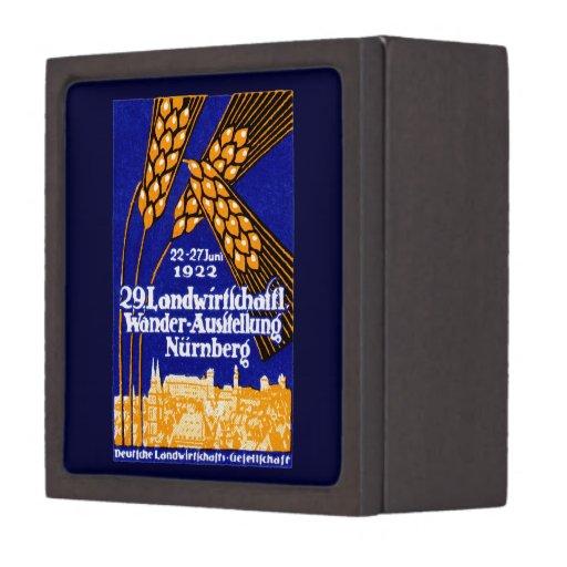 Exposición agrícola 1922 de Nuremberg Caja De Recuerdo De Calidad