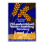 Exposición agrícola 1922 de Nuremberg Poster