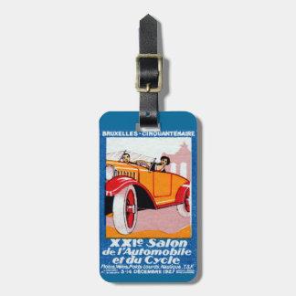 Exposición automotriz 1927 de Bruselas Etiquetas De Equipaje