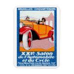 Exposición automotriz 1927 de Bruselas Imán Rectangular