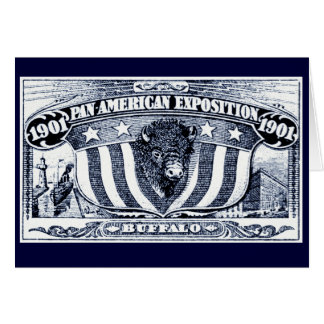 Exposición Cacerola-Americana 1901 Tarjeta Pequeña