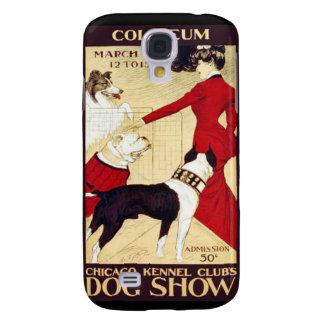 Exposición canina del club de la perrera de los funda para galaxy s4
