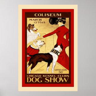 Exposición canina del vintage del ~ del club de la poster