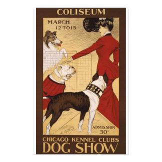 """Exposición canina del vintage folleto 5.5"""" x 8.5"""""""