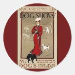 Exposición canina pegatinas redondas