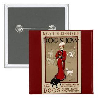 Exposición canina pin cuadrada 5 cm