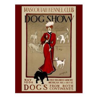 Exposición canina tarjeta postal