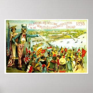 Exposición colombina - impresión poster