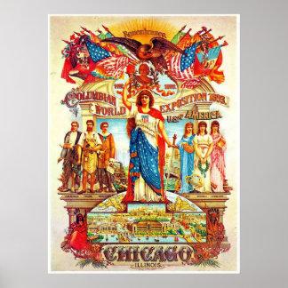 Exposición colombina - impresión póster