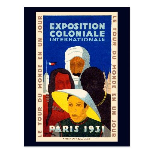 Exposición colonial París 1931 Tarjeta Postal