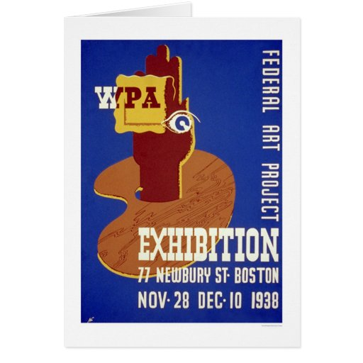Exposición de arte de Boston WPA 1938 Tarjeta De Felicitación