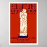 Exposición de la escultura WPA 1936 Poster