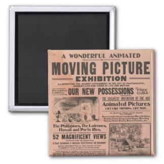 Exposición de la imagen en movimiento del vintage iman de nevera