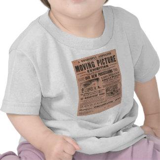 Exposición de la imagen en movimiento del vintage camiseta