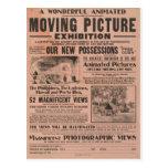 Exposición de la imagen en movimiento del vintage postal