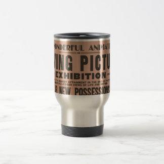 Exposición de la imagen en movimiento del vintage taza térmica