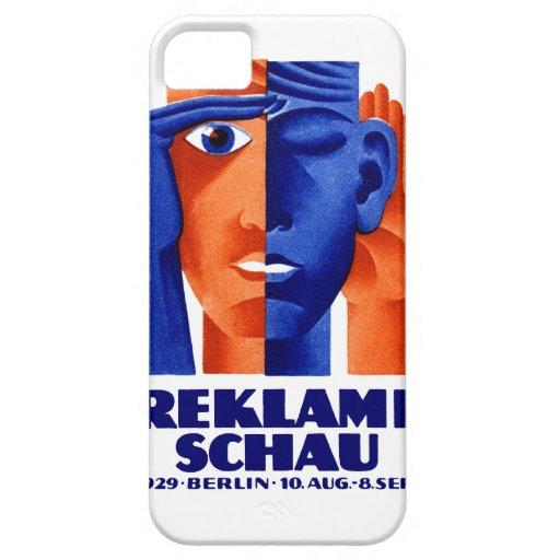 Exposición de la publicidad de 1929 alemanes iPhone 5 Case-Mate coberturas