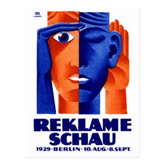 Exposición de la publicidad de 1929 alemanes postales