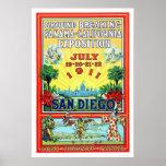 Exposición de Panamá - de California en San Diego  Posters