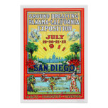 Exposición de Panamá - de California en San Diego  Póster