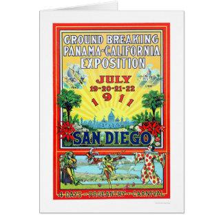Exposición de Panamá - de California en San Diego Tarjeta De Felicitación