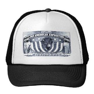 Exposición del americano de 1901 cacerolas gorras