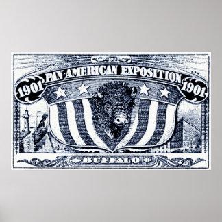 Exposición del americano de 1901 cacerolas póster