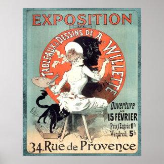 Exposición del artista francés del anuncio del póster