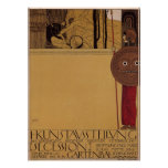 Exposición del ~ de Klimt primera del poster de la