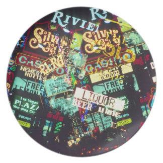 Exposición doble, muestras del casino, Las Vegas, Platos
