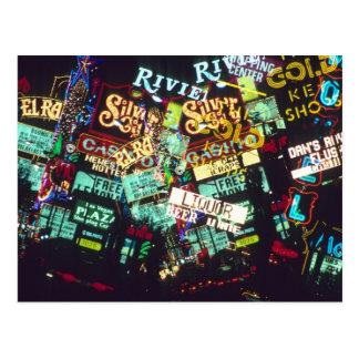 Exposición doble, muestras del casino, Las Vegas, Postal