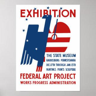 Exposición -- El PA de Harrisburg del museo del es Poster