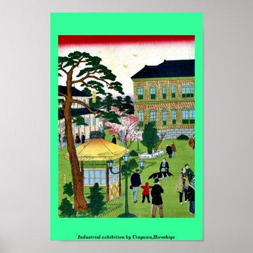 Exposición industrial por Utagawa, Hiroshige Poster