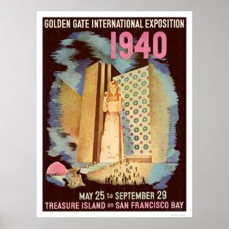 Exposición internacional 1940 del Golden Gate Póster