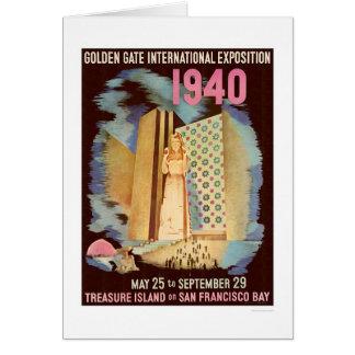 Exposición internacional 1940 del Golden Gate Tarjeta De Felicitación