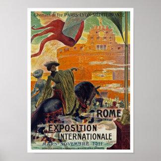 Exposición Internationale 1911 del ~ de Roma Póster