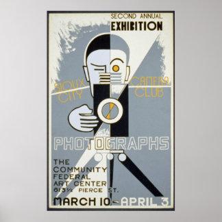 Exposición para el vintage de WPA del club de la c Poster