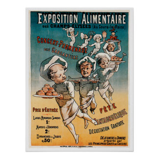Exposition Alimentaire Vintage Food Ad Art Poster
