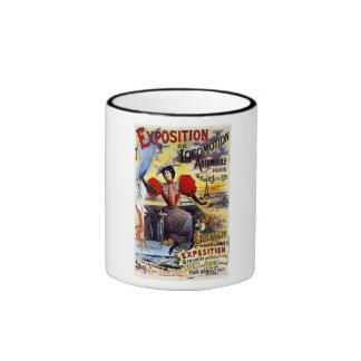 Exposition de Locomotion 1895 - Paris - Vintage Ringer Mug