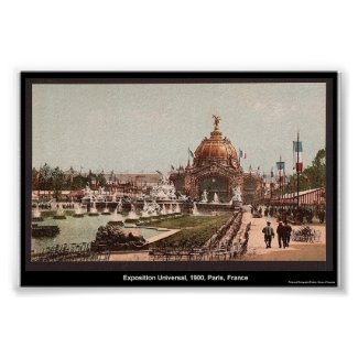 Exposition Universal, 1900, Paris, France print